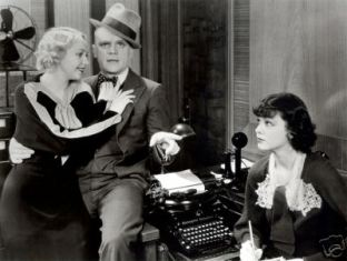 Alice White , James Cagney and Mayo Methot in a scene from the 1934 film Jimmy The Gent